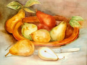 Still Life Pears by Mary Belle Cordell