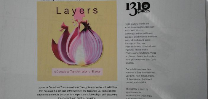 "1310 Gallery Exhibition titled ""Layers"""